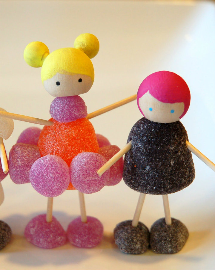 Juego de muñecos de gominolas