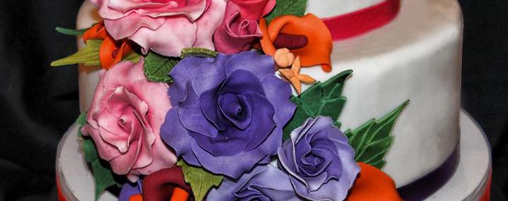 tarta de bodas floral