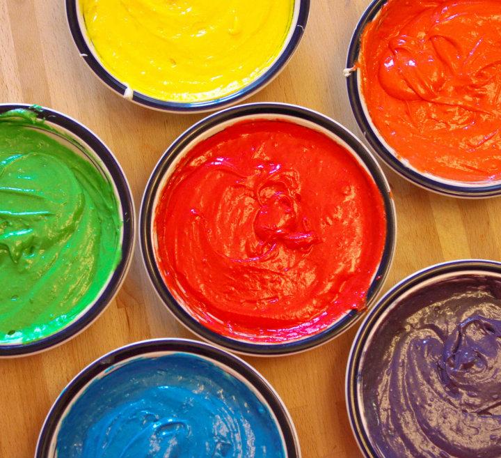 Rainbow-cake-batter