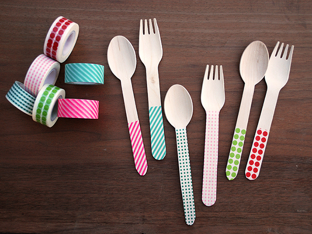 Washi-tape-silverware