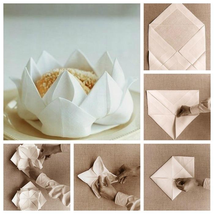 Como-doblar-servilletas-de-tela-con-flor-de-loto1