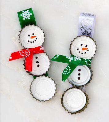 chapas muñeco de nieve