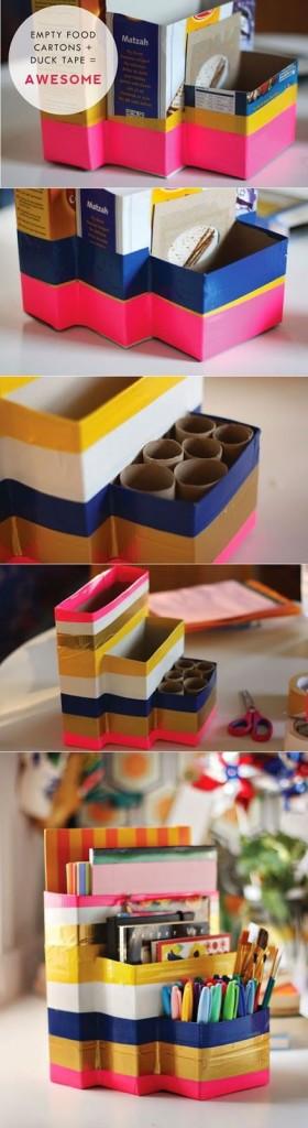 DIY lapicero cajas