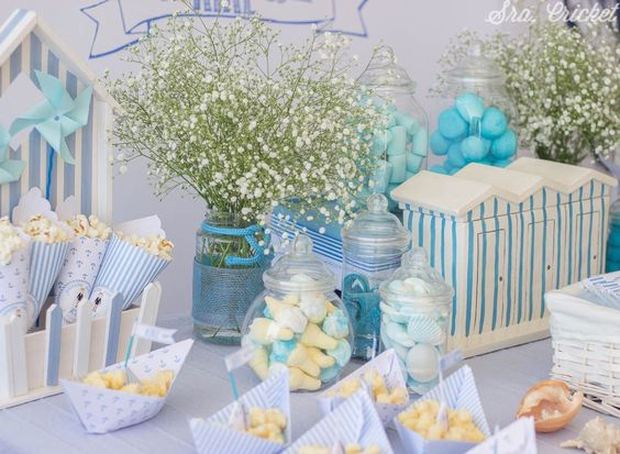 Candy Bar azul comunion