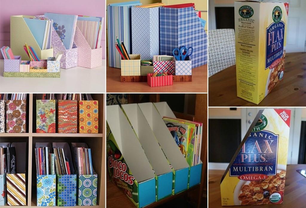 revistero reciclado cajas de cartón
