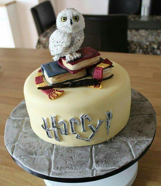 Harry potter tarta Hedwig