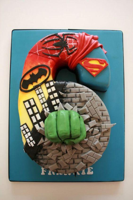 tarta superheroe