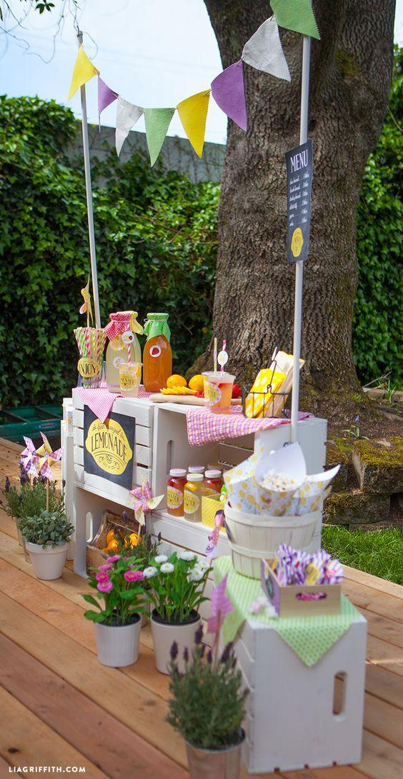 Cajas de madera para decorar snack market snack market - Mesas con cajas de madera ...