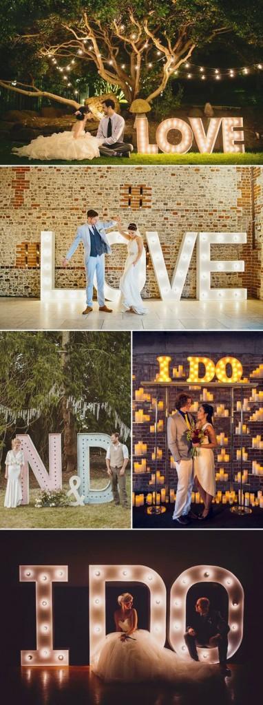 fotografia de boda letras