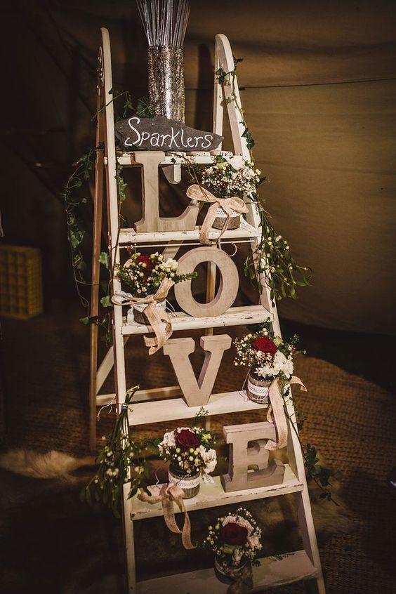 letras LOVE decoración
