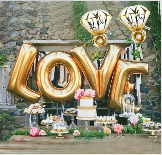 letras LOVE globo