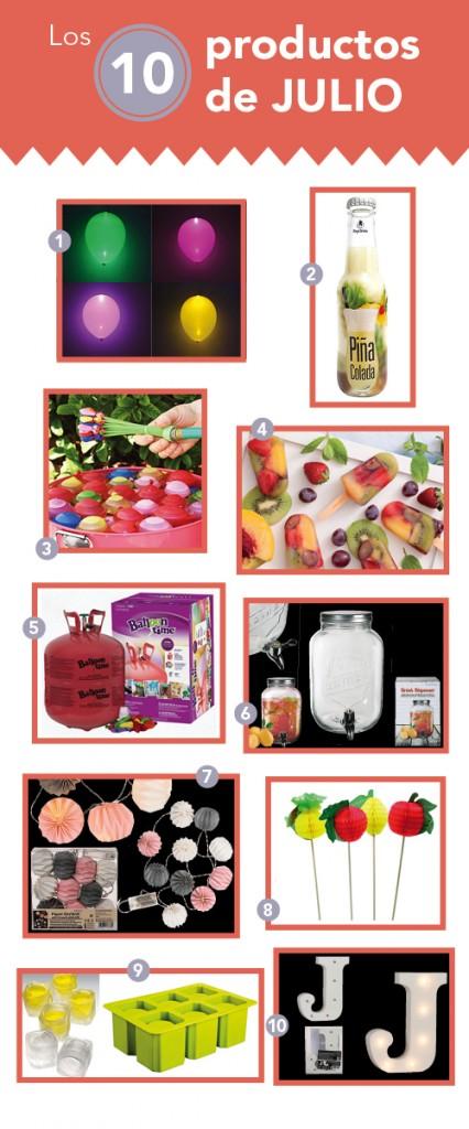 productos de julio