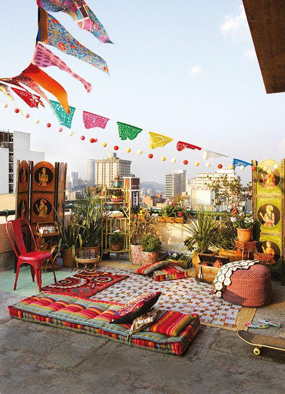Ideas para montar una verbena en la terraza de casa
