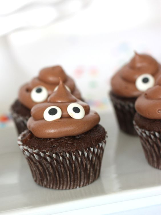 Emoticono caca cupcake