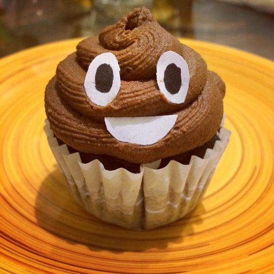 caca de whats app cupcake
