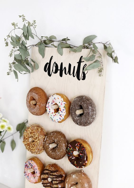 Pared de donuts