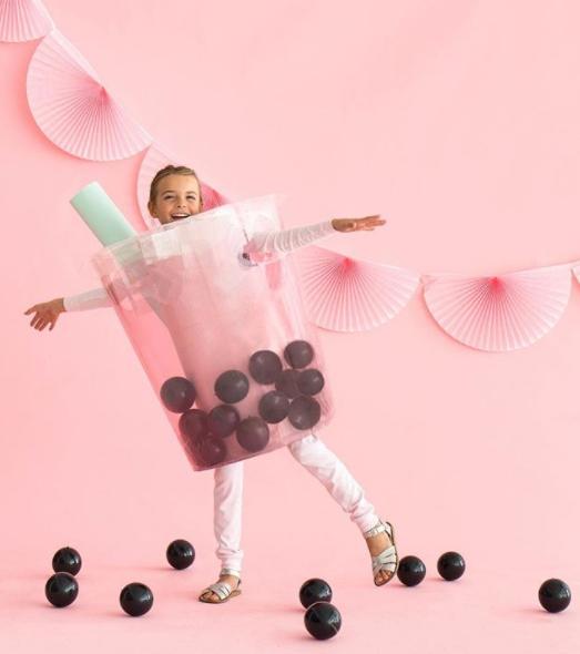 disfraces con globos batido