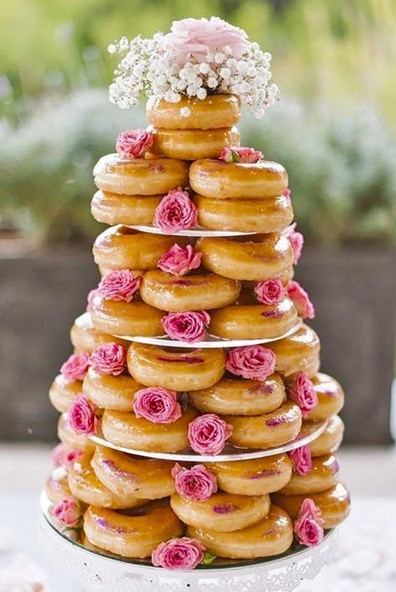 Pastel de donuts