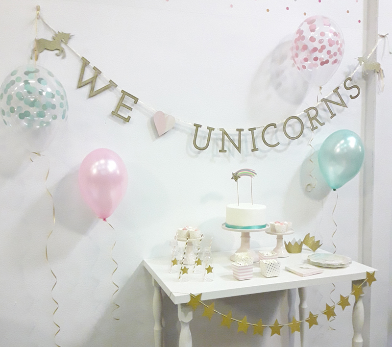 fiesta de unicornio guirnalda