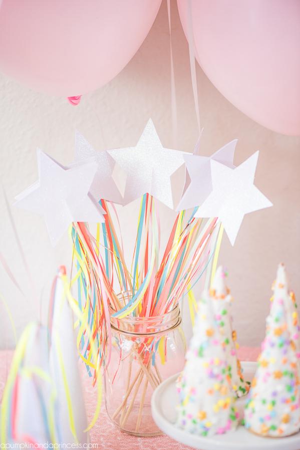 fiesta de unicornio varitas
