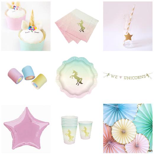 fiesta de unicornio productos