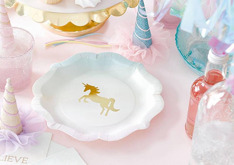 fiesta de unicornio menaje