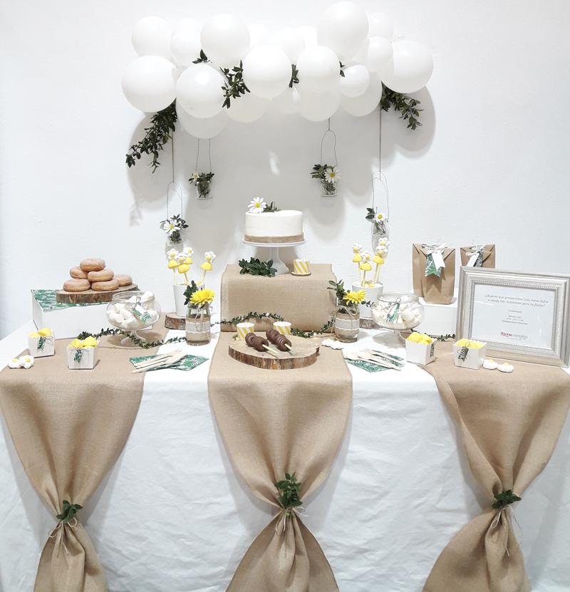 mesas dulces de comunión rustica
