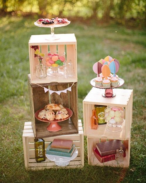 mesa dulce - cajas de madera