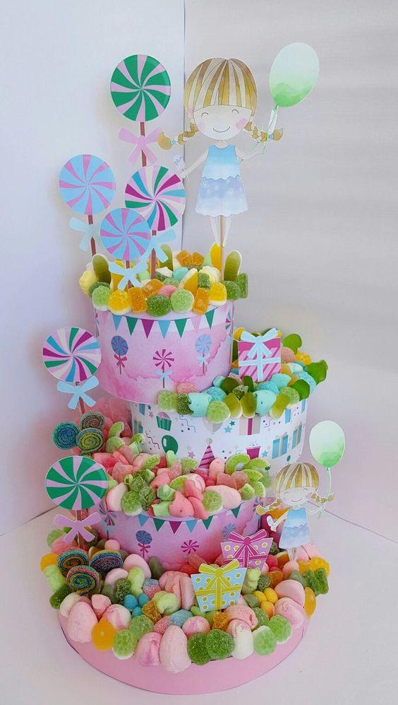 tarta para fiesta infantil
