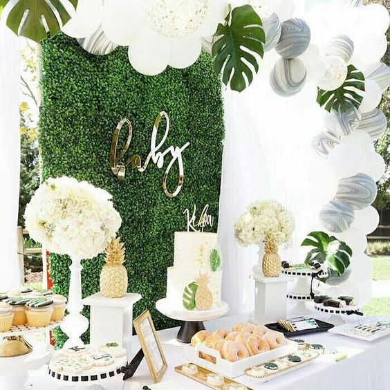 decoración de una baby shower