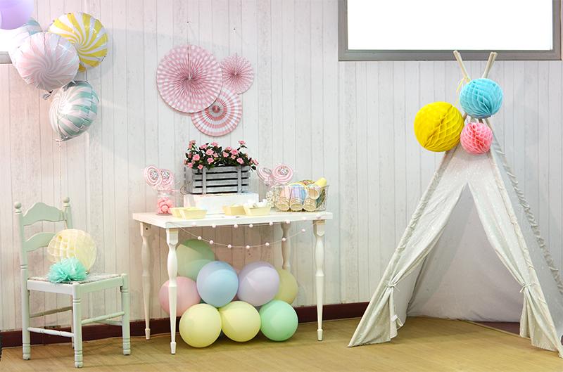 Decoración de fiestas en colores pastel
