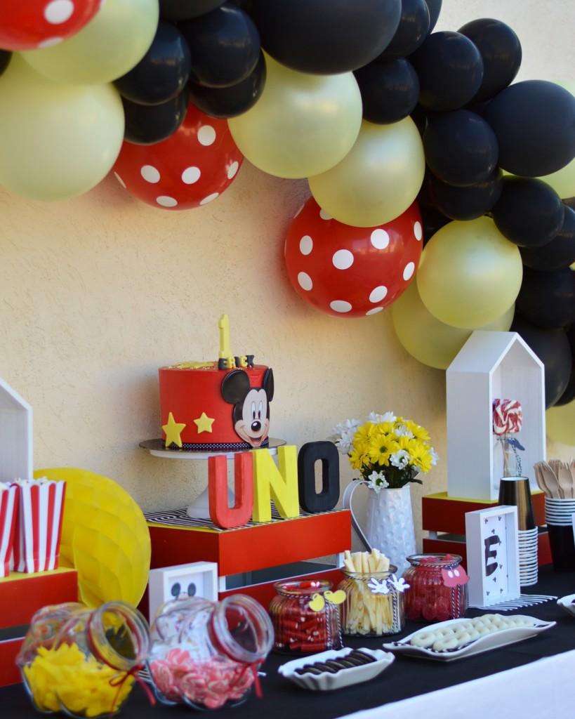 decoración candy bar Mickey Mouse