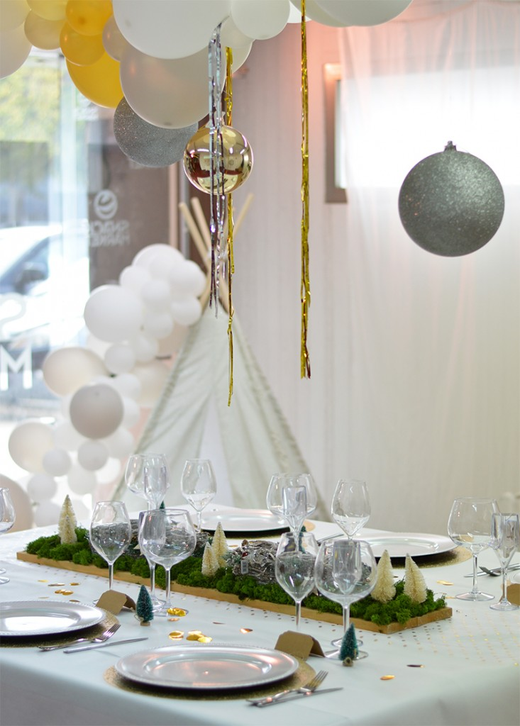 ideas para la mesa para Navidad
